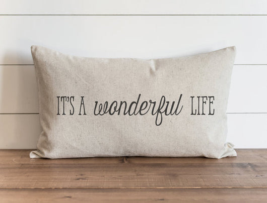 It's a Wonderful Life 16 x 26 Pillow Cover