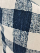 Italian Denim Blue & White Buffalo Plaid Print Farmhouse Pillow Cover Farmhouse Decor