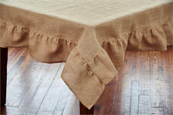 Jute Table Square Tablecloth