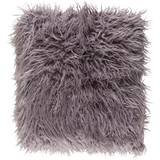 Kharaa Faux Fur Throw Pillow - Grey