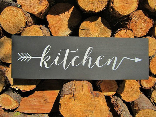 Modern Rustic Kitchen Sign black