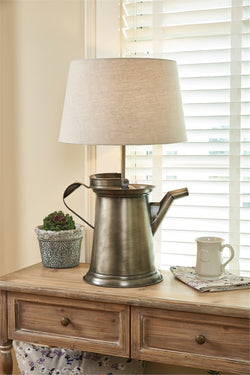 Large Coffee Pot Lamp with Shade