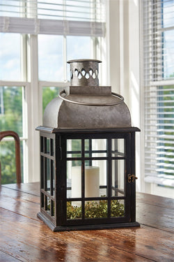 Large Tin Top Black Lantern