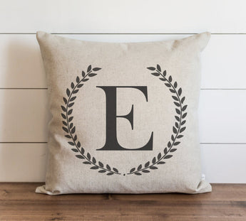 Laurel Wreath Monogram 20 x 20 Pillow Cover