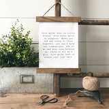 """Love grows best in little houses like this"" rustic farmhouse hanging sign Canvas Poster"
