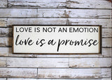 Love is a Promise Sign