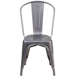 Metal Indoor Stackable Tolix Farmhouse Chair