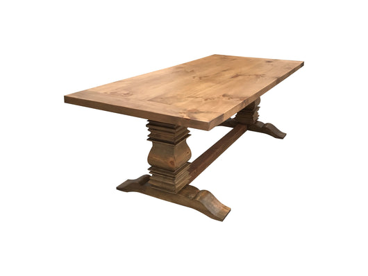 Handcrafted Weathered Berkley Farmhouse Table natural unfinished wood look