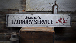 Mom's Laundry Service Sign