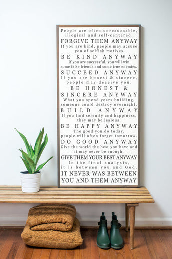 Mother Theresa Quote Sign