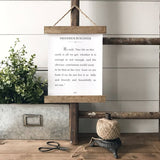 """One life on this earth is all we get"" Frederick Buechner Quote Hanging rustic farmhouse decor Canvas Poster"