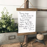 Peter Pan Quote rustic farmhouse sign Canvas Poster