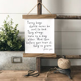 Peter Pan Quote rustic farmhouse decor Canvas Poster