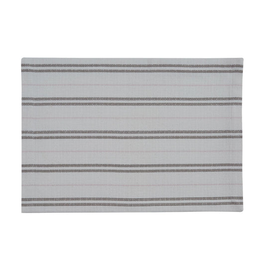 farmhouse RAILROAD STRIPE WOVEN PLACEMAT - SPRING