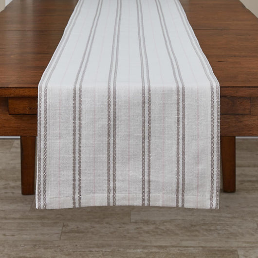 modern RAILROAD STRIPE WOVEN TABLE RUNNER - 72