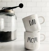 Rae Dunn Stem Print Mugs Mom and Dad - Set of 2