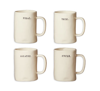 Rae Dunn Bike Mugs - Set of 4