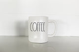 Rae Dunn COFFEE Elongated Mug - Matte Finish - Only 7 available!