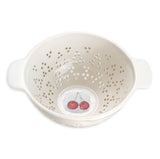 Rae Dunn Fruit Colander cherry