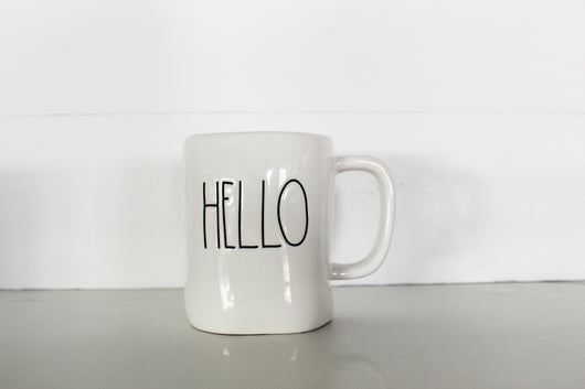 Rae Dunn Hello Elongated Mug - Shine Finish - Only 3 available!