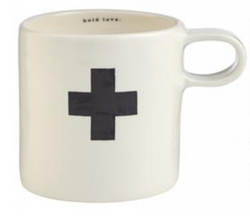 Rae Dunn Indigo Mug - Black Cross