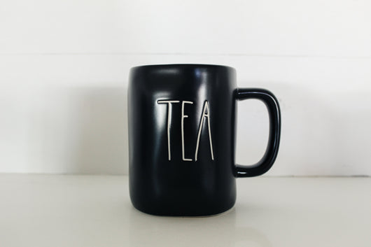 Rae Dunn Limited Edition Black Matte TEA Elongated Mug - Only 1 available