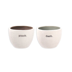 Rae Dunn Pinch + Dash Salt Cellars