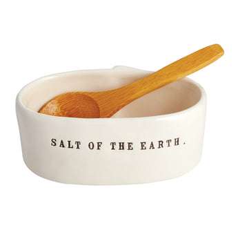 Rae Dunn Salt Cellar with Spoon