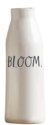 "Rae Dunn Stem Print ""Bloom"" Vase"