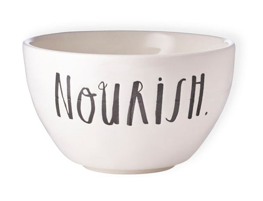Rae Dunn Stem Print Bowl - Nourish, Set of 4