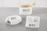 "Rae Dunn Stem Print ""Hold"" Office Tray"