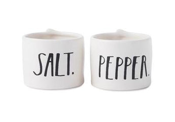Rae Dunn Stem Print Salt + Pepper Cellars