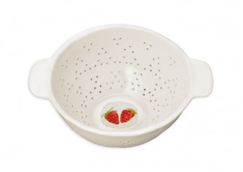Rae Dunn Strawberry Colander.