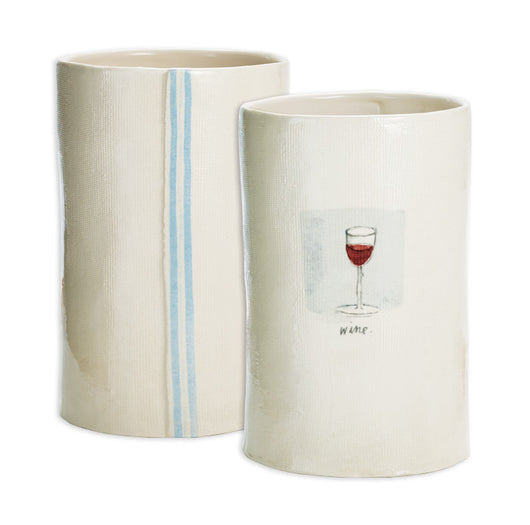 Rae Dunn Striped Wine Cooler