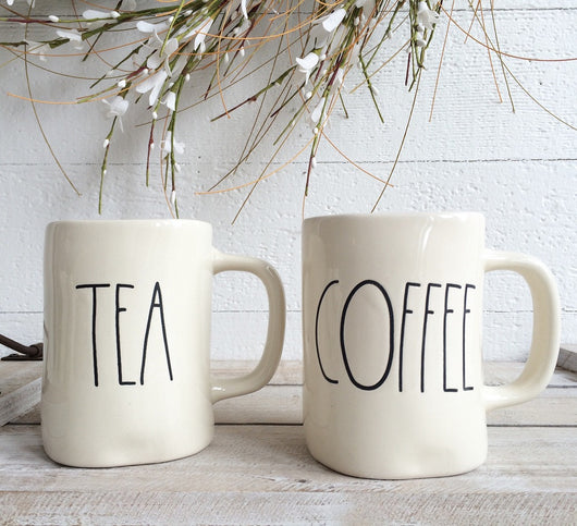 Rae Dunn Tea + Coffee Mugs - Set of 2