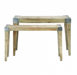 Reclaimed Wood Console Table Set of 2