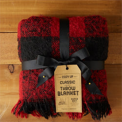 Red Buffalo Check Soft Throw Blanket