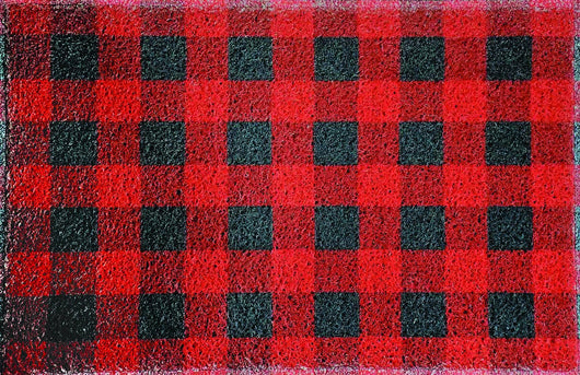 Red Buffalo Check Weatherproof Indoor/Outdoor Floor Mat