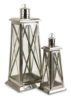 Regatta Steel Candle Lanterns - Set of 2