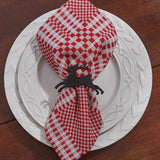 metal seasonal reindeer napkin ring