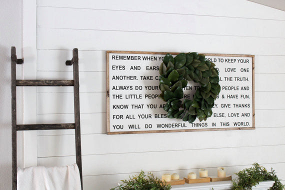 Quot Love Never Fails Quot Oversized Sign Modern Rustic Home