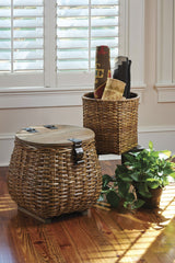 COVERED BASKET & PLANTER - SET OF 2