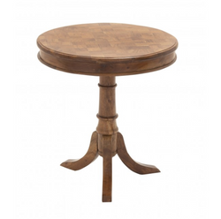 Round Marquetry Accent Table