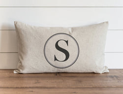 Round Monogram 16 X 26 Pillow Cover