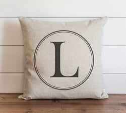 Round Monogram 20 x 20 Pillow Cover