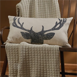 Rustic Antlers Pillow