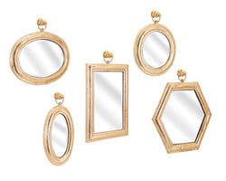 Rylan Gold Assorted Wall Collage Mirrors - Ast 5