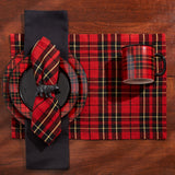 festive plaid sportsman placemats for the holiday