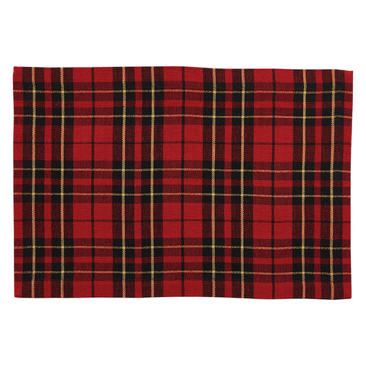 high quality sportsman plaid placemats