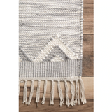 Savannah Moroccan Fringe Rug - Light Grey